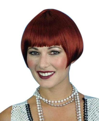 Charleston Cut Auburn Bob (Red) Wig - The Costume Company | Fancy Dress Costumes Hire and Purchase Brisbane and Australia