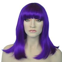 Cleo Purple Wig - The Costume Company | Fancy Dress Costumes Hire and Purchase Brisbane and Australia