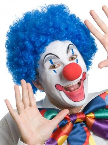 Clown Wig Blue - The Costume Company | Fancy Dress Costumes Hire and Purchase Brisbane and Australia