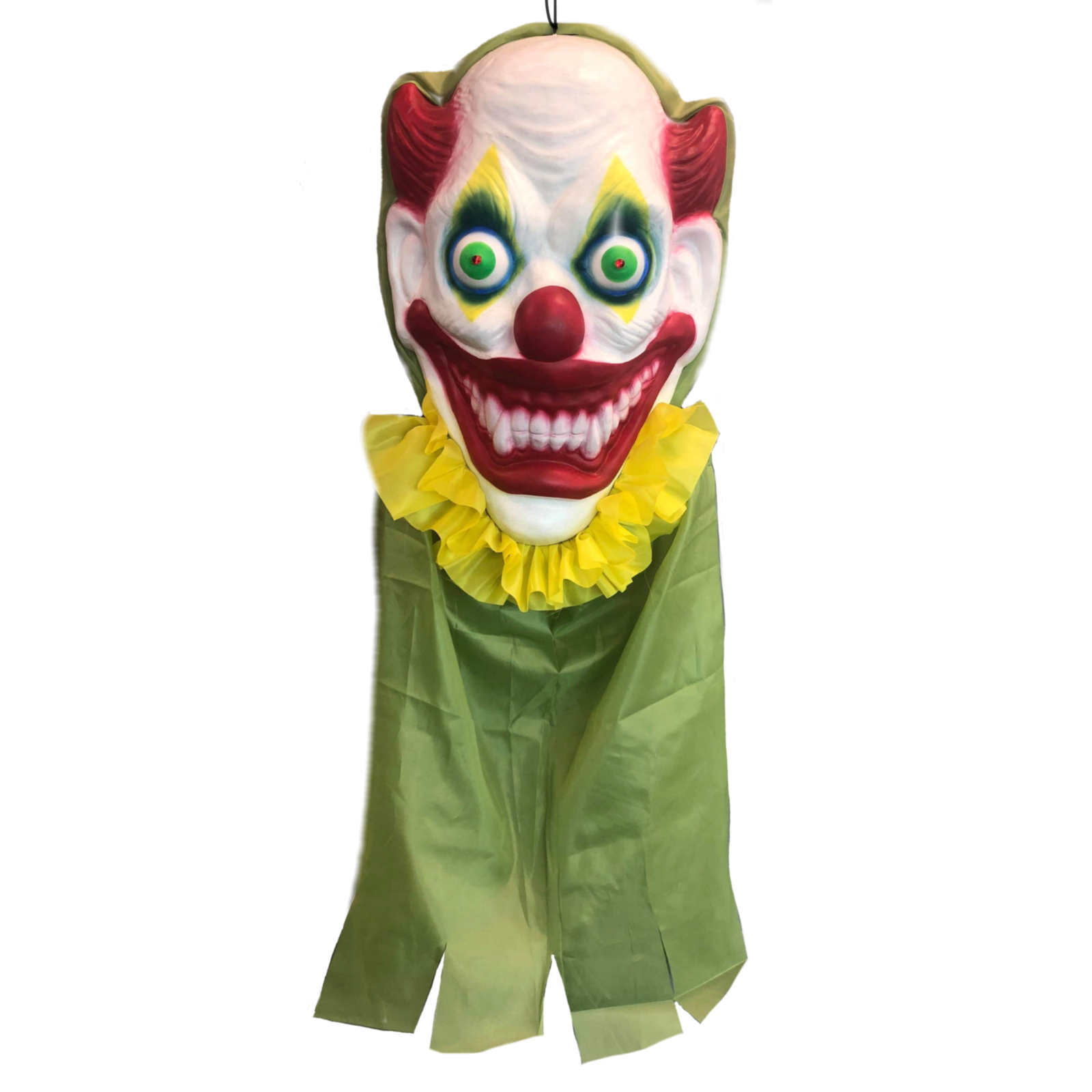 Giant Hanging Clown Head with Lights and Sound - Buy Online Only