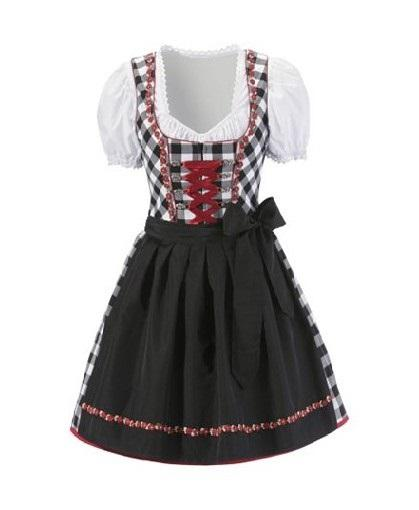 'Coming Soon' - Oktoberfest Beautiful Authentic Dirndl Black Chekered - The Costume Company | Fancy Dress Costumes Hire and Purchase Brisbane and Australia