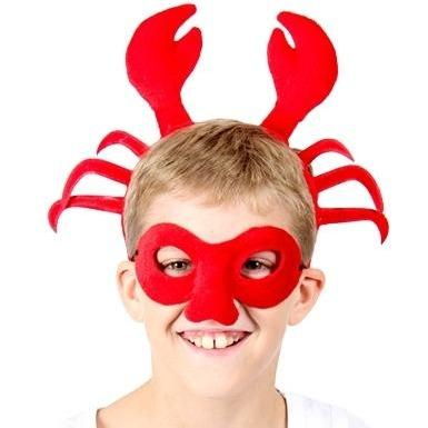 Crab - Headband and Mask Set - The Costume Company | Fancy Dress Costumes Hire and Purchase Brisbane and Australia