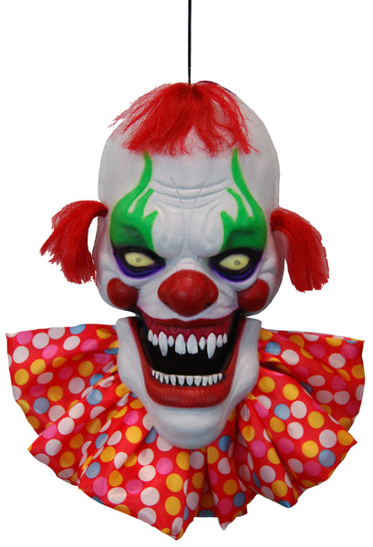 Creepy Talking Clown Head with Light up Eyes - Buy Online Only