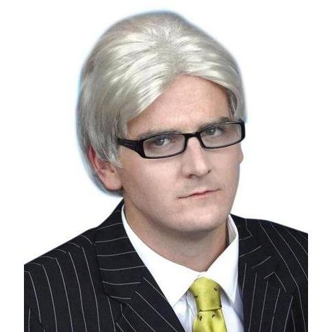 Current Affairs Host Silver Grey Wig - The Costume Company | Fancy Dress Costumes Hire and Purchase Brisbane and Australia