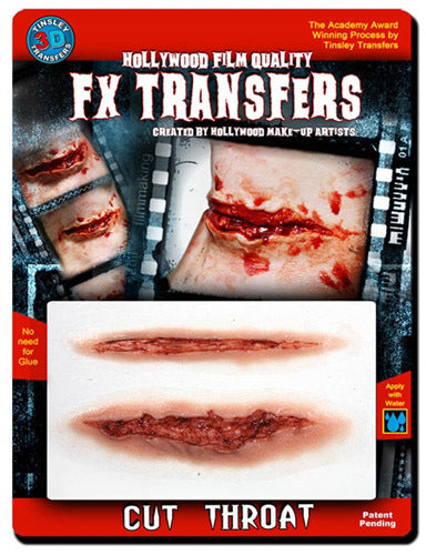 Cut Throat 3D Transfers - Buy Online Only