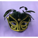 Dark Green Carnival Masquerade Mask - The Costume Company | Fancy Dress Costumes Hire and Purchase Brisbane and Australia