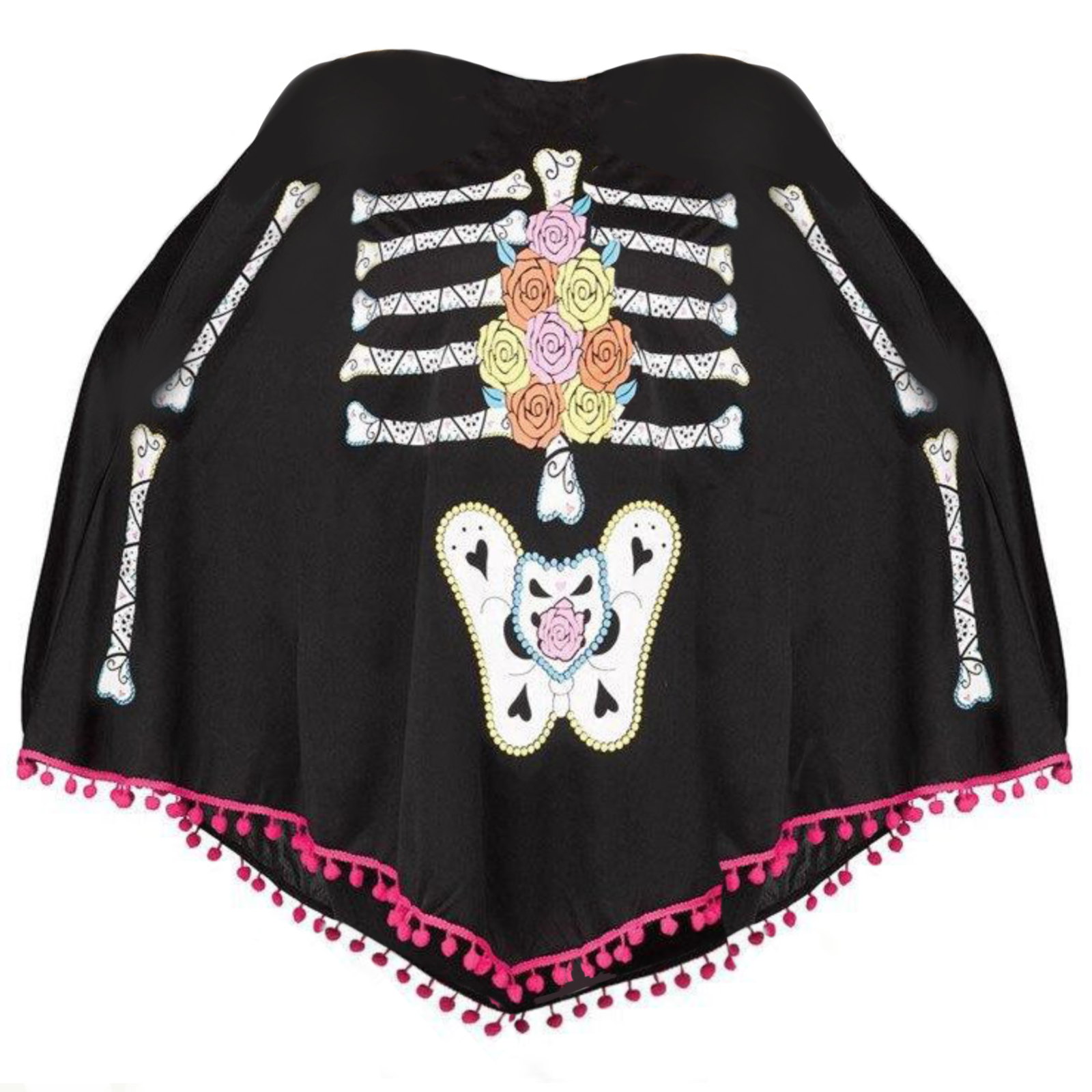 Day of the Dead Poncho Costume - Buy