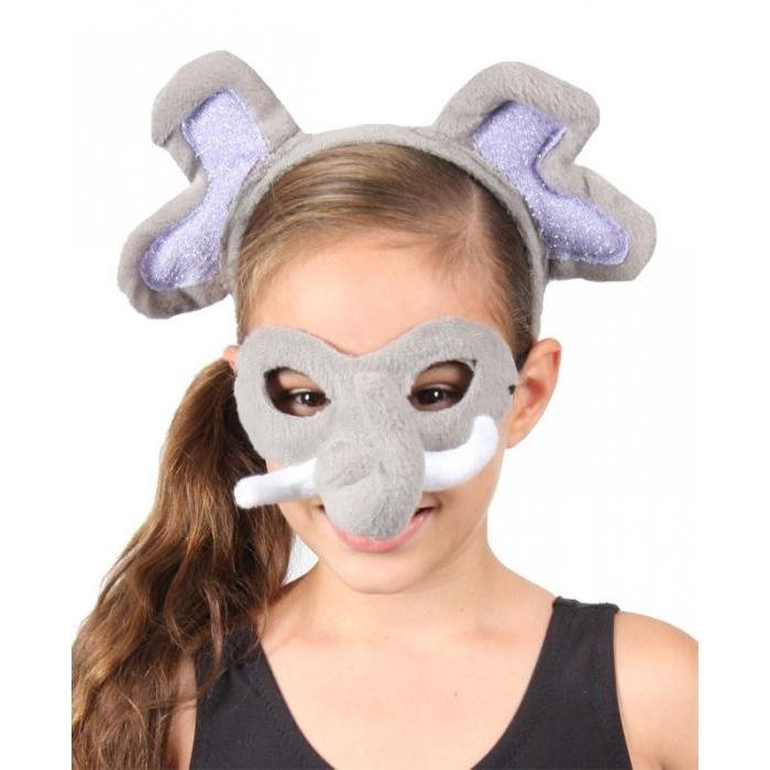Elephant - Headband and Mask Set - The Costume Company | Fancy Dress Costumes Hire and Purchase Brisbane and Australia
