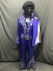 Elvis Style Jumpsuit Blue - Hire - The Costume Company | Fancy Dress Costumes Hire and Purchase Brisbane and Australia