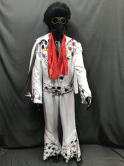Elvis Style Jumpsuit White - Hire - The Costume Company | Fancy Dress Costumes Hire and Purchase Brisbane and Australia