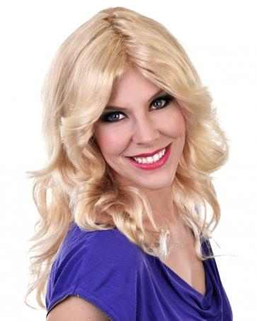 Farrah Blonde 80s Wig - The Costume Company | Fancy Dress Costumes Hire and Purchase Brisbane and Australia