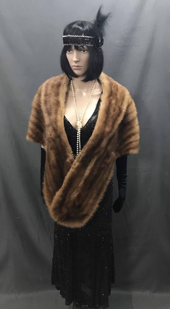 Faux Fur Brown Stole - Hire - The Costume Company | Fancy Dress Costumes Hire and Purchase Brisbane and Australia