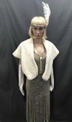 Faux Fur White Stole - Hire - The Costume Company | Fancy Dress Costumes Hire and Purchase Brisbane and Australia