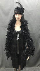 Flapper Dress Roaring 20's Black - Hire - The Costume Company | Fancy Dress Costumes Hire and Purchase Brisbane and Australia