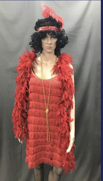 Flapper Dress Roaring 20's Red - Hire - The Costume Company | Fancy Dress Costumes Hire and Purchase Brisbane and Australia