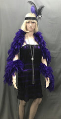 Flapper Roaring 20's Black and Purple dress - Hire - The Costume Company | Fancy Dress Costumes Hire and Purchase Brisbane and Australia