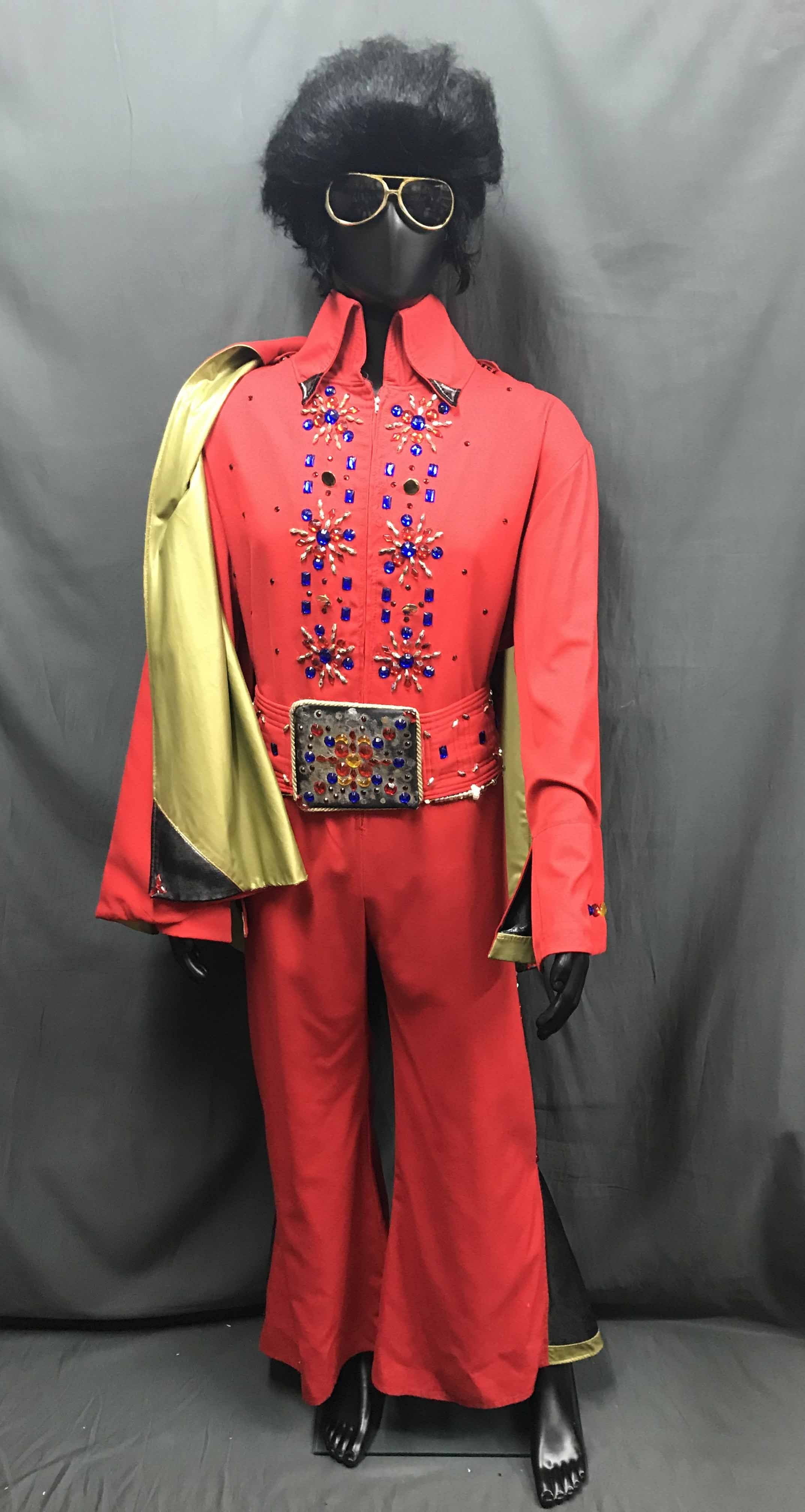 Full Red Elvis Style Jumpsuit - Hire - The Costume Company | Fancy Dress Costumes Hire and Purchase Brisbane and Australia