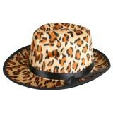 Gangster Leopard Print Fedora - The Costume Company | Fancy Dress Costumes Hire and Purchase Brisbane and Australia