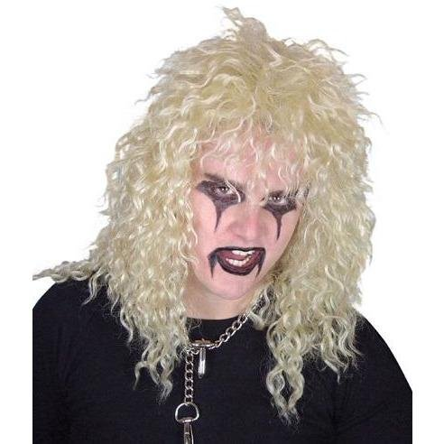Glam Rock 80s Blonde Curly Wig - The Costume Company | Fancy Dress Costumes Hire and Purchase Brisbane and Australia