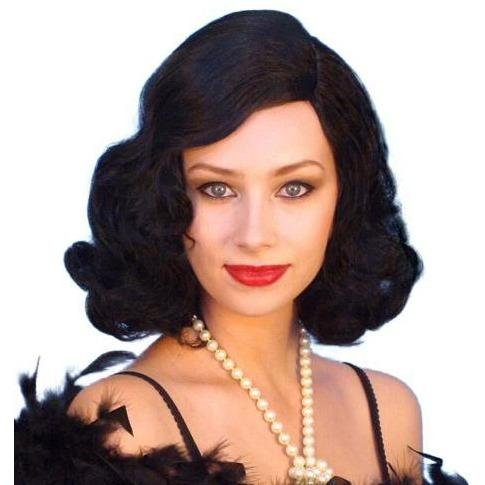 Glamour Movie Star Black Wig - The Costume Company | Fancy Dress Costumes Hire and Purchase Brisbane and Australia