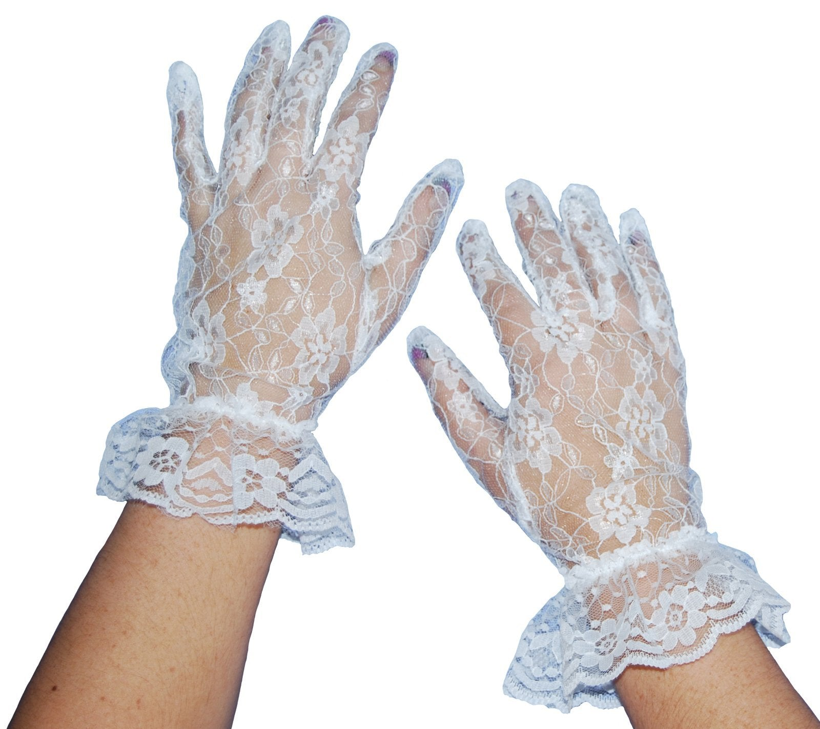 Gloves White Lace - The Costume Company | Fancy Dress Costumes Hire and Purchase Brisbane and Australia