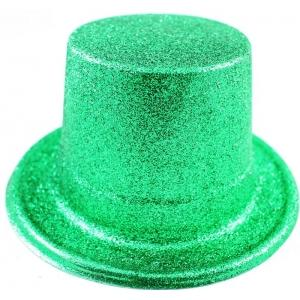 Green Glitter Top Hat - The Costume Company | Australian & Family Owned