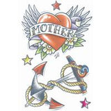 Heart with Anchor Mother Vintage Tattoo - The Costume Company | Fancy Dress Costumes Hire and Purchase Brisbane and Australia