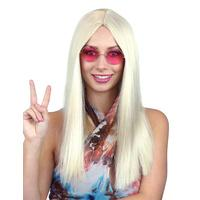 Hippie Blonde 60s Style Wig - The Costume Company | Fancy Dress Costumes Hire and Purchase Brisbane and Australia