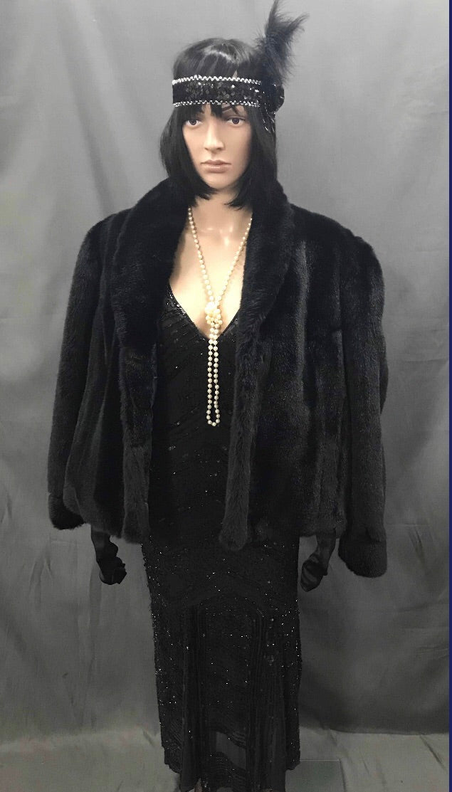 Faux Fur Coat Black - Hire
