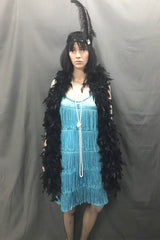 Flapper Dress Roaring 20's Blue - Hire