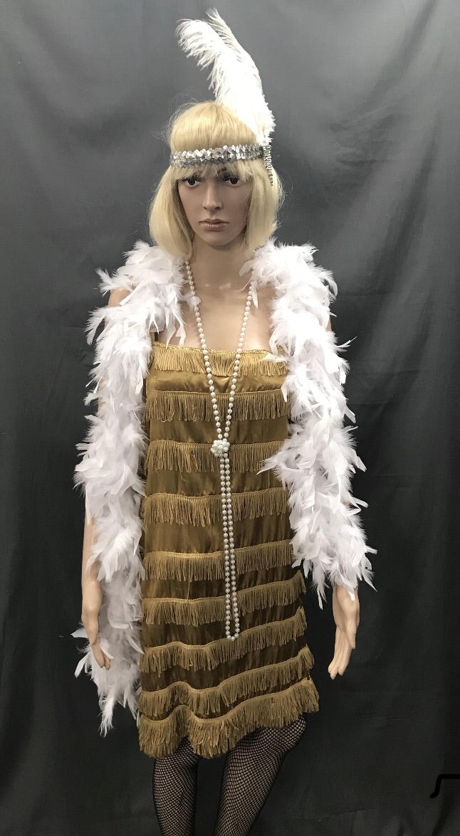 Flapper Dress Roaring 20's Gold - Hire