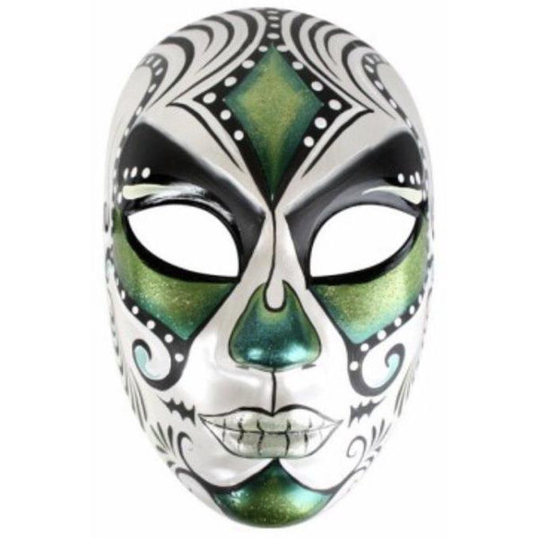 Juanita Face Mask Green - The Costume Company | Fancy Dress Costumes Hire and Purchase Brisbane and Australia