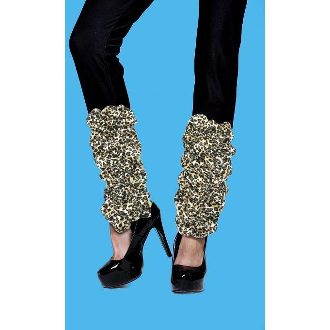 Leopard Print (Faux) Leg Warmers - The Costume Company | Fancy Dress Costumes Hire and Purchase Brisbane and Australia