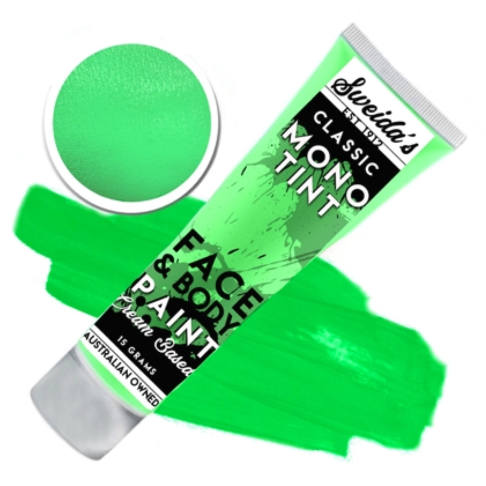 Lime Green - Monotint Liquid Face & Body Paint 15g