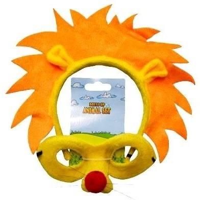 Lion - Headband and Mask Set - The Costume Company | Fancy Dress Costumes Hire and Purchase Brisbane and Australia