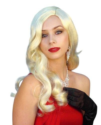 Long Blonde 1940s Glamour Wig - The Costume Company | Fancy Dress Costumes Hire and Purchase Brisbane and Australia
