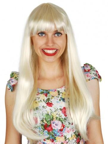 Long Blonde Wig with Fringe - The Costume Company | Fancy Dress Costumes Hire and Purchase Brisbane and Australia