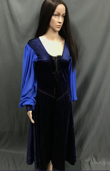 Maiden Blue Lace up Front Dress - Hire - The Costume Company | Fancy Dress Costumes Hire and Purchase Brisbane and Australia