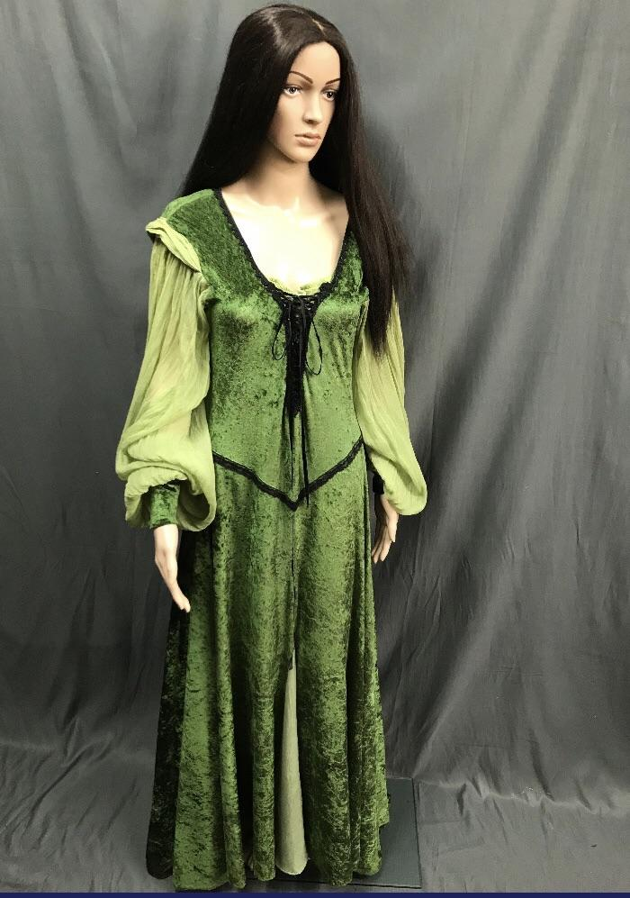 Maiden Green Lace up Front Dress - Hire - The Costume Company | Fancy Dress Costumes Hire and Purchase Brisbane and Australia
