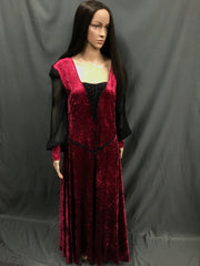 Maiden Red Lace up Front Dress - Hire - The Costume Company | Fancy Dress Costumes Hire and Purchase Brisbane and Australia