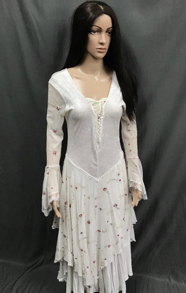 Maiden White Lace up Front Dress - Hire - The Costume Company | Fancy Dress Costumes Hire and Purchase Brisbane and Australia