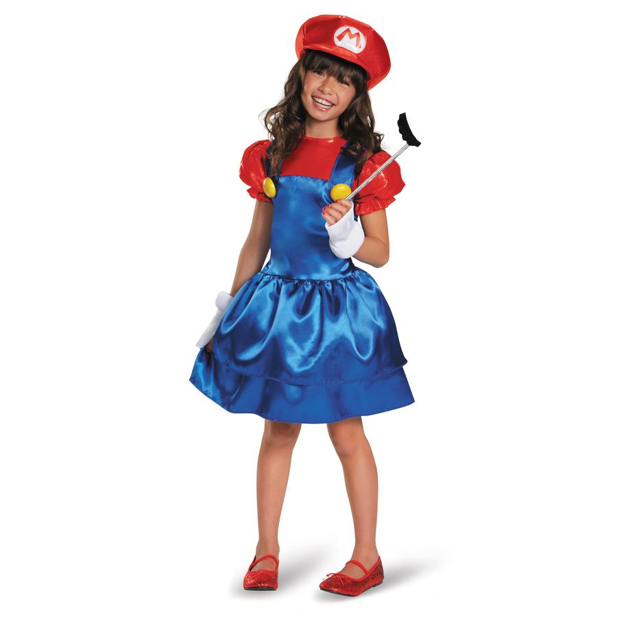 Mario Skirt Version Child Costume