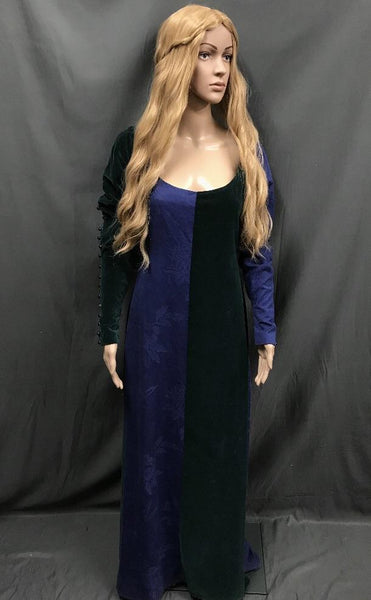 Medieval Blue and Green Dress Highgarden Princess - Hire - The Costume Company | Fancy Dress Costumes Hire and Purchase Brisbane and Australia