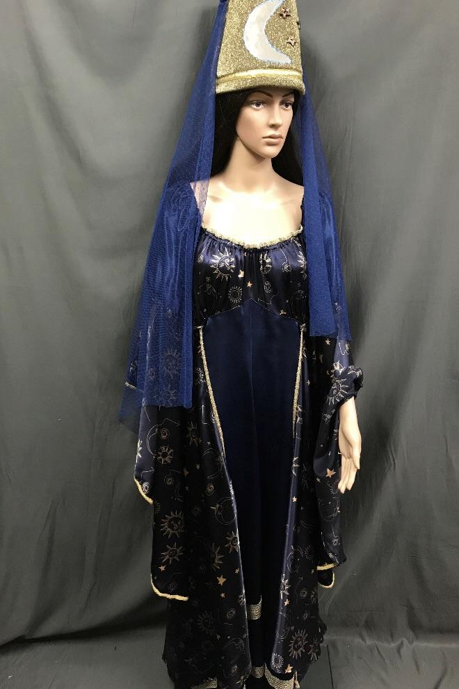 Medieval Blue Witch or Wizard Dress - Hire - The Costume Company | Fancy Dress Costumes Hire and Purchase Brisbane and Australia