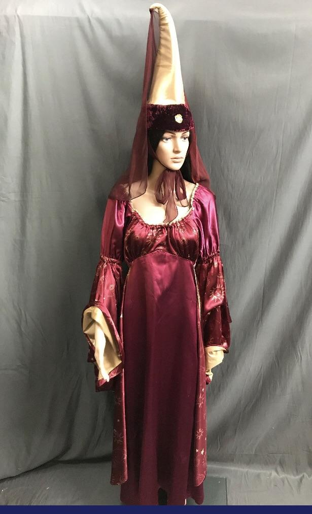 Medieval Maroon Witch or Wizard Dress - Hire - The Costume Company | Fancy Dress Costumes Hire and Purchase Brisbane and Australia