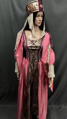 Medieval Pink and Gold Princess Dress - Hire - The Costume Company | Fancy Dress Costumes Hire and Purchase Brisbane and Australia