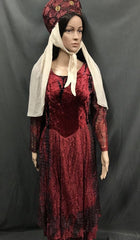Medieval Red Velvet Dress - Hire - The Costume Company | Fancy Dress Costumes Hire and Purchase Brisbane and Australia