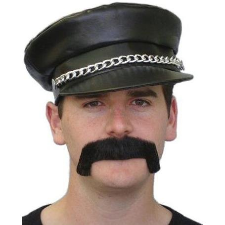 Merv Moustache Black - The Costume Company | Fancy Dress Costumes Hire and Purchase Brisbane and Australia