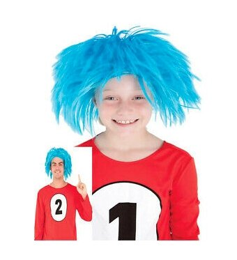 Messy Maniac Thing 1 & 2 Style Wig - The Costume Company | Fancy Dress Costumes Hire and Purchase Brisbane and Australia