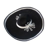 Mexican Mariachi Hat - Black and Silver - The Costume Company | Fancy Dress Costumes Hire and Purchase Brisbane and Australia